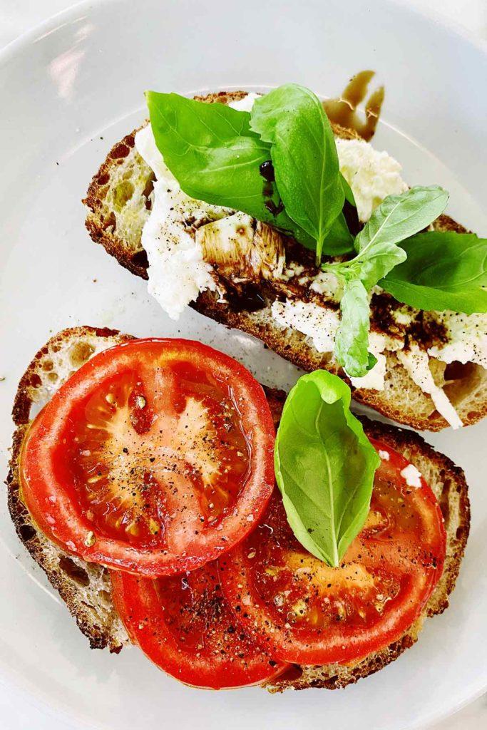Caprese Toast foodiecrush.com