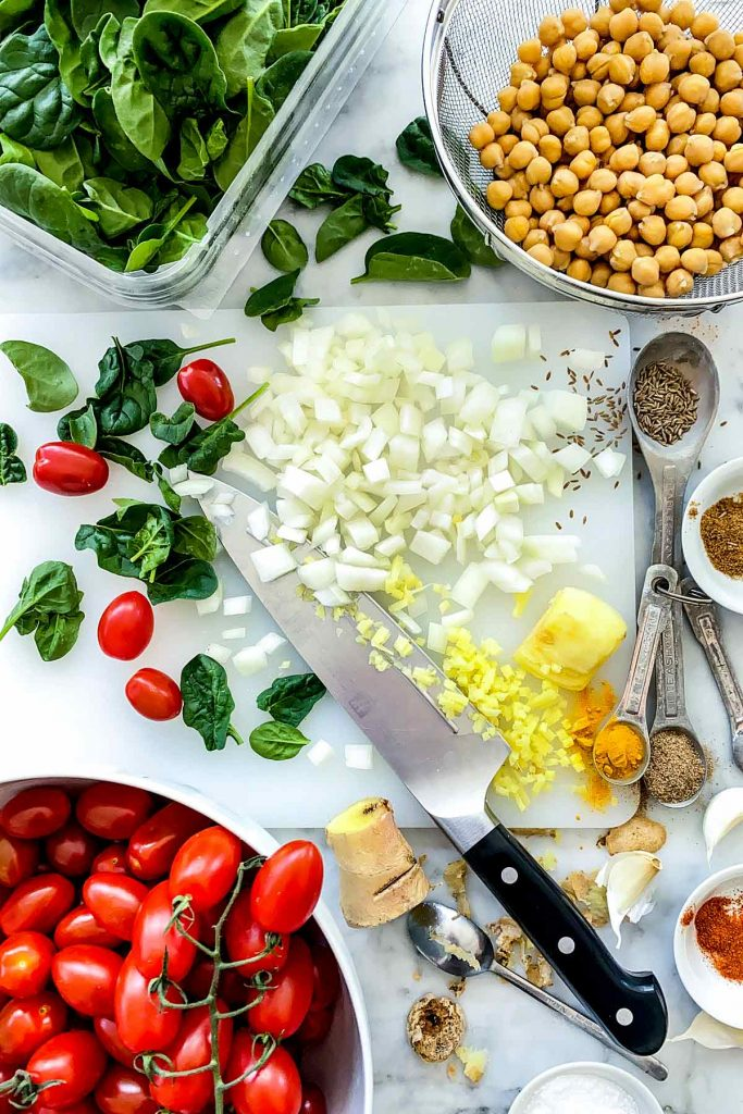 Chana Masala ingredients foodiecrush.com