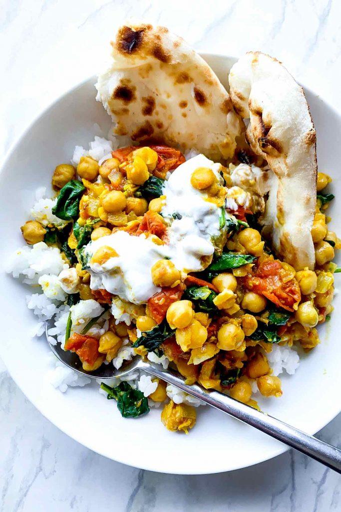 Chana Masala over rice foodiecrush.com