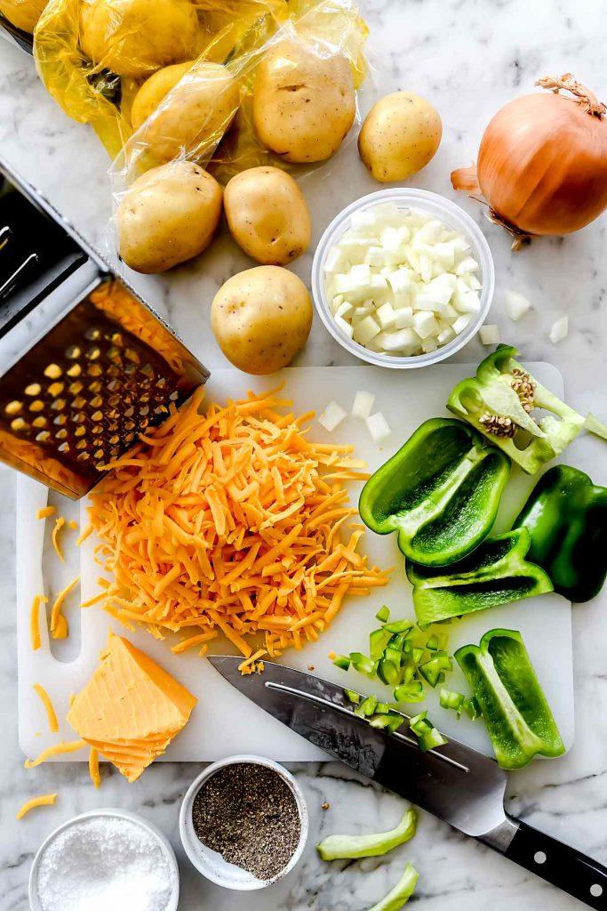 Cheesy Potatoes ingredients foodiecrush.com