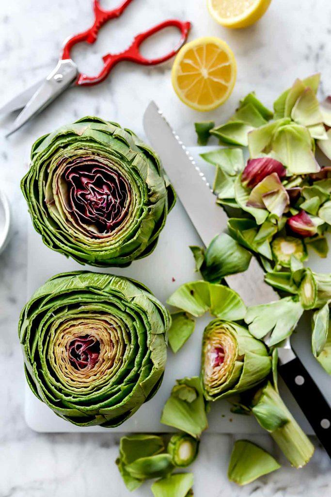 How to cut artichokes | foodiecrush.com