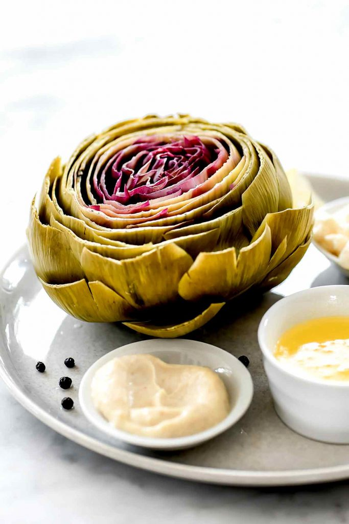 How to Cook Artichokes (Steamed or Roasted) | foodiecrush.com