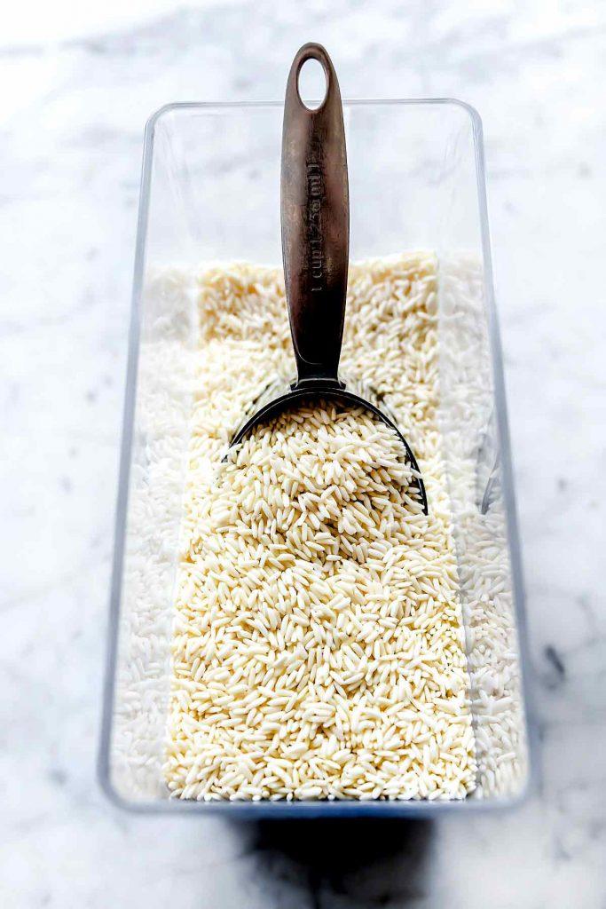 White Basmati Jasmine Rice in container foodiecrush.com