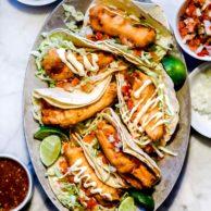 Authentic Baja Fish Tacos foodiecrush.com