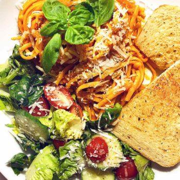 Spaghetti and Roasted Tomato Sauce foodiecrush.com