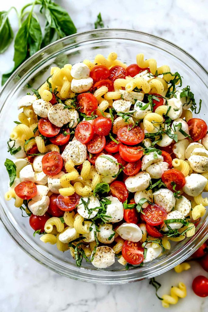 THE BEST Caprese Pasta Salad foodiecrush.com