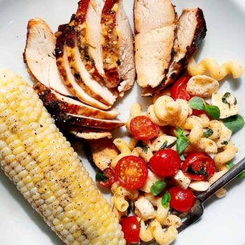 Caprese Pasta Salad with Chicken foodiecrush.com