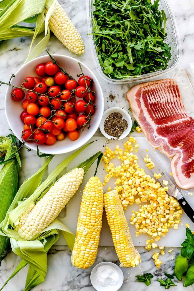 BLT Corn Salad ingredients | foodiecrush.com