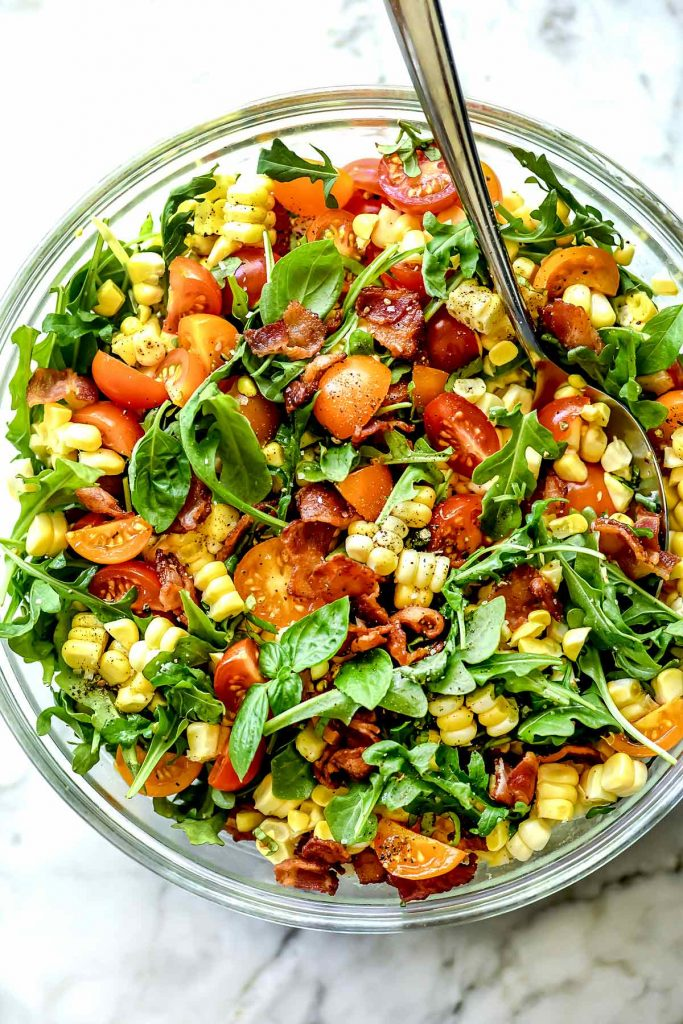 BLT Corn Salad recipe foodiecrush.com