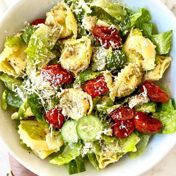 Caesar salad pasta foodiecrush.com