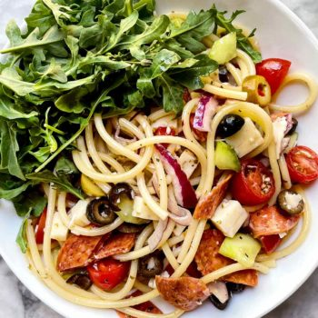 Italian Spaghetti Pasta Salad | foodiecrush.com