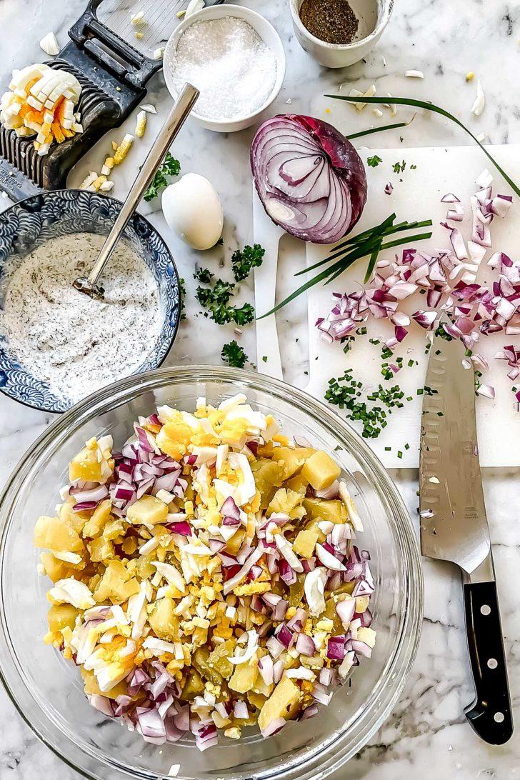 Ranch Potato Salad ingredients foodiecrush.com
