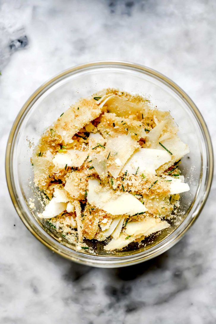 Parmesan cheese and bread crumbs foodiecrush.com