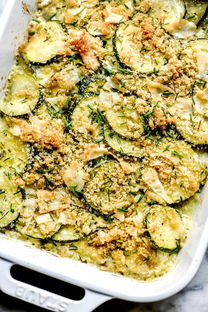 Parmesan Zucchini Casserole foodiecrush.com