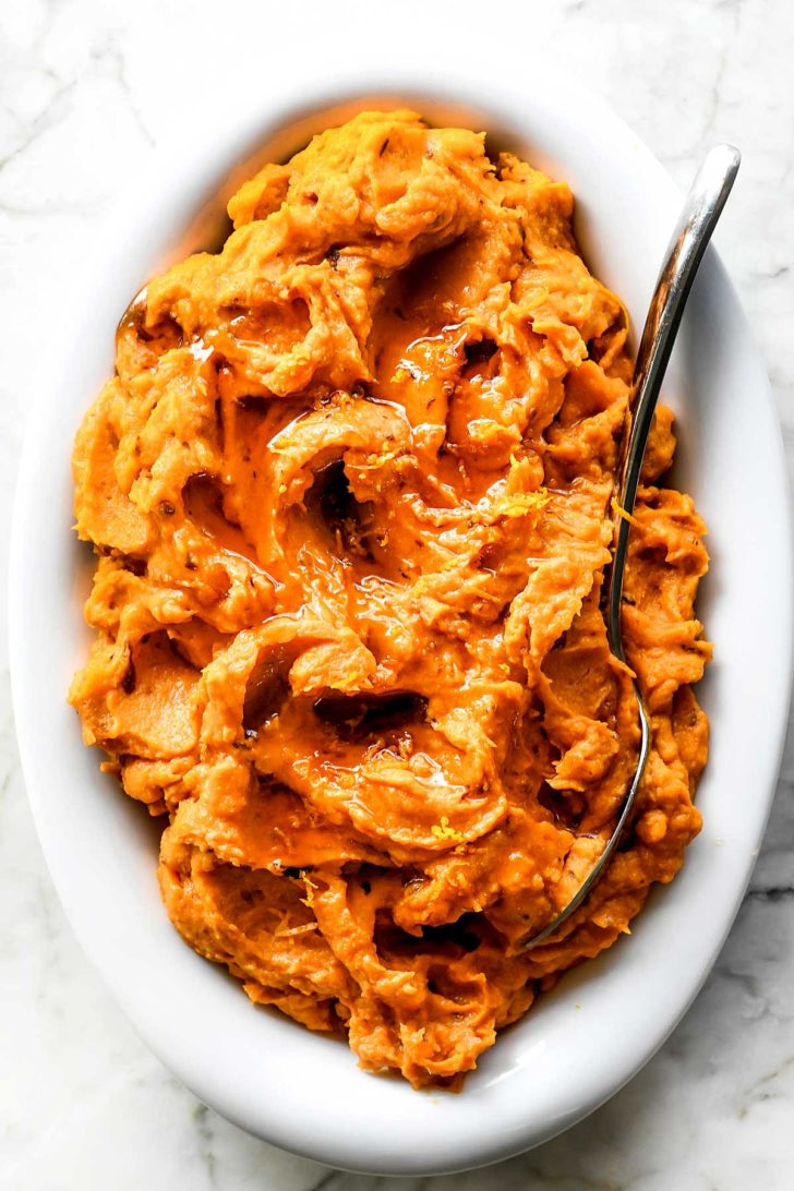 Chipotle Mashed Sweet Potatoes foodiecrush.com