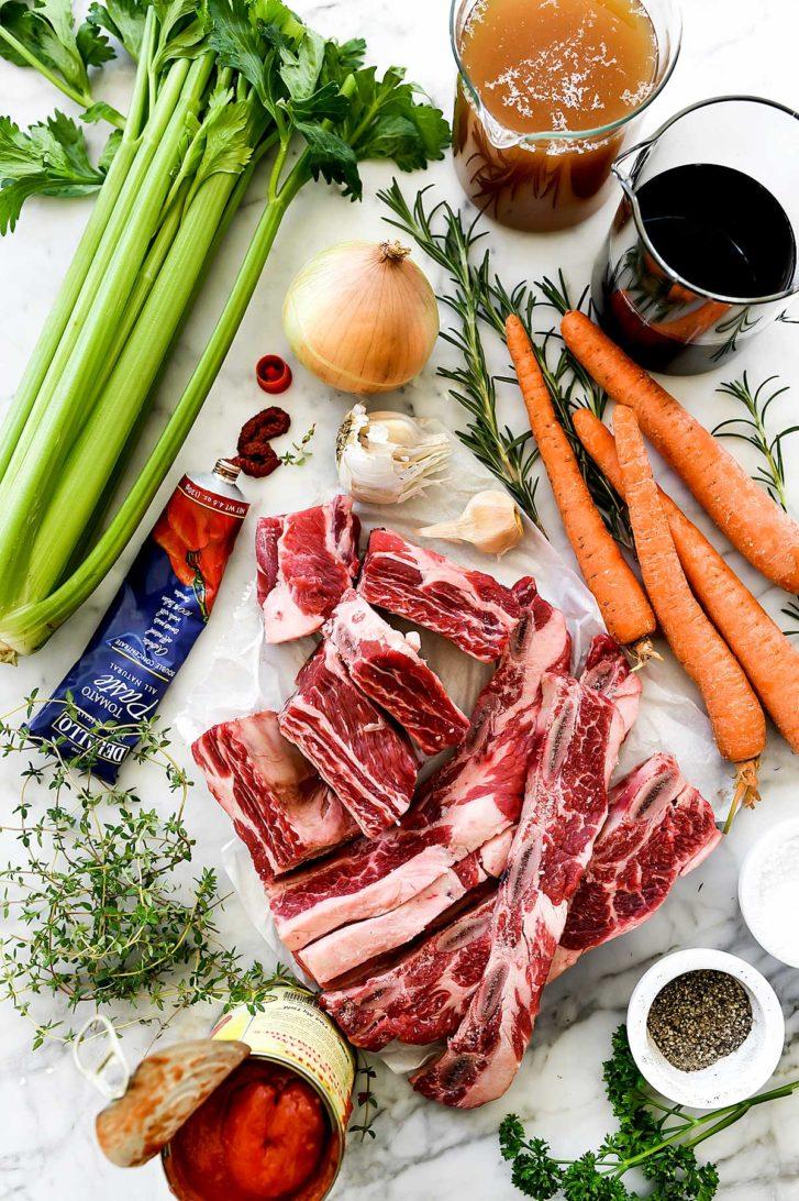 Braised Short Ribs Recipe ingredients | foodiecrush.com