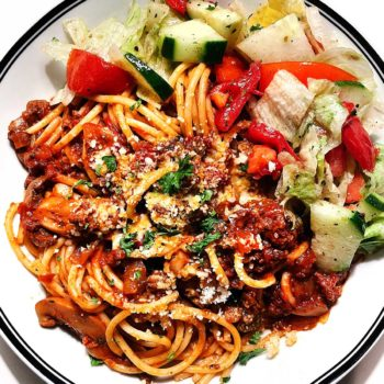 The BEST Spaghetti and Meat Sauce foodiecrush.com