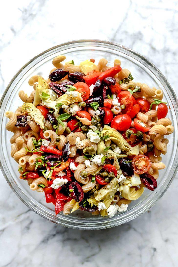 Whole Wheat Mediterranean Pasta Salad   foodiecrush.com