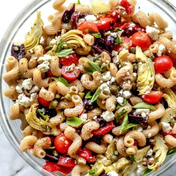 Whole Wheat Greek Pasta Salad | foodiecrush.com